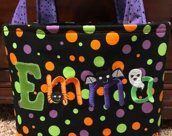 Custom Personalized Handmade Trick or Treat Halloween Bag
