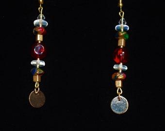 Copper earrings, handmade earrings, wire wrap earrings