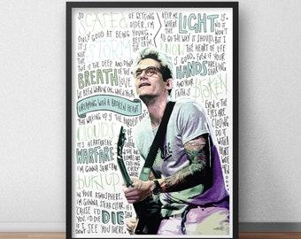 John Mayer quotes / lyrics / print / poster hand drawn type / typography