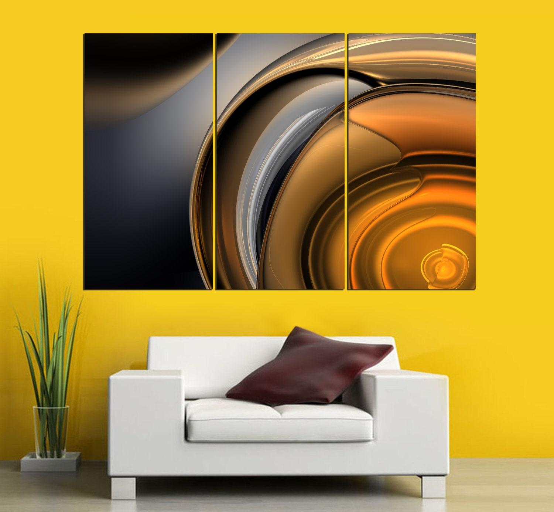 3 Panel canvas 3D Split Abstract Print. 1.5 deep
