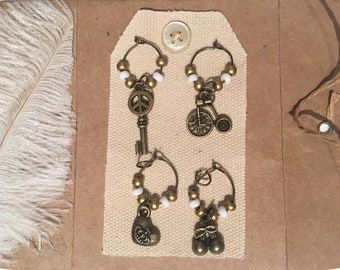 Wine Glass Charms Magnet - LIFE