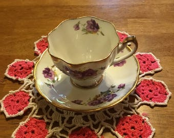 Antique Tea Cup and Saucer Queen Anne numbered