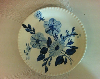 Blue Ridge Plate by Southern Potteries, USA