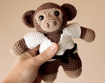Monkey - Animalius. Crochet Doll, Amigurumi Toy, Crocheting, Made to Order, Animal Crochet, Cute Children Gift, Nursery Doll, Art Crafts