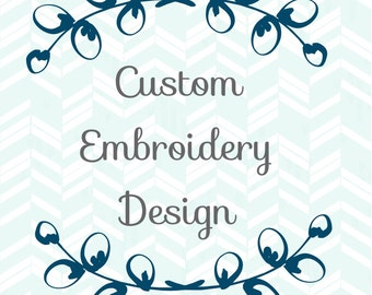 Custom Embroidered Handkerchief Design