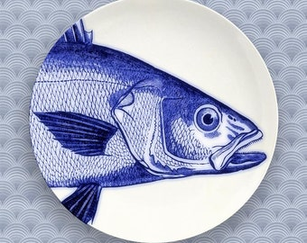 fish portrait plate