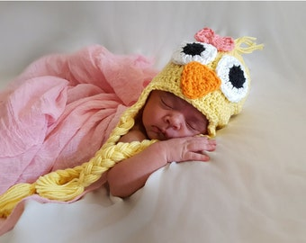 Baby Chick Hat, Crochet Baby Animal Hat, Newborn Baby Hat, Crochet Baby Hat, Baby Animal Beanie, Crochet Baby Bird Hat