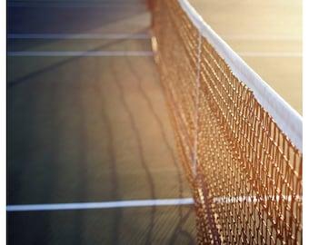 Tennis Art  - Tennis Photograph - Summer Photography - The Game 1-  Fine Art Tennis Photograph - Green - Yellow - Tennis Print - Sports Art