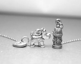 Collier de chien amant, collier de chien, feu collier bouche, collier de chien Scottish Terrier, Initials, collier personnalisé, monogramme