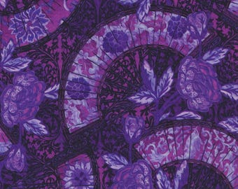 Pastiche, In the Beginning Fabrics, Jason Yenter, Fans, Purple Floral Print