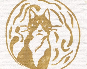 Smokey Woodblock Print