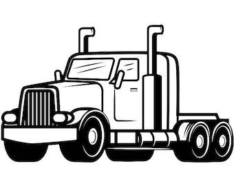 trucker clipart etsy rh etsy com tractor trailer clip art free tractor trailer truck clip art