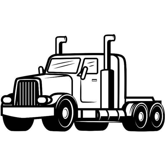 truck driver 12 trucker big rigg 18 wheeler semi tractor trailer rh etsystudio com tractor trailer clip art black and white tractor trailer clip art black and white