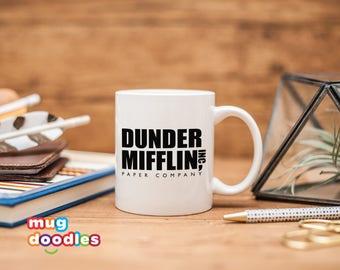 office coffee mugs. Dunder Mifflin Inc, The Office, Mug, Office Coffee Mugs D