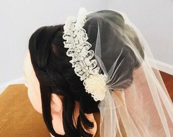 Ivory unblushing veil