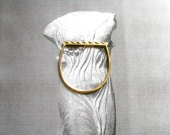 Greek Modern Bangle-Oxidized Bangle Bracelet-Curved Bangle Bracelet-Gold Bangle Bracelet-Greek Modern Jewelry-Brass Bangle Bracelet