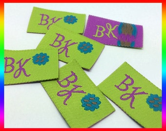 1200 Custom embroidered cloth label, embroidered clothing tag, embroidered label for clothing