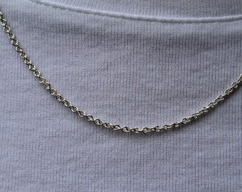 Entirely Handmade Sterling Silver Necklace - Smallest Tiny Dainty - 1.2 mm ID