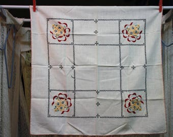 Cream Embroidered Tablecloth 26″ X 26″