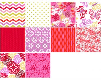 Maricella Half Yard Bundle, 5 Pieces, 3 Wishes Fabric, Precut Fabric, Quilt Fabric, Cotton Fabric, Modern Fabric, Butterfly Fabric, Floral