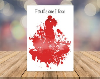 Valentines Card - For the one I love