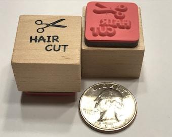 Hair Cut, rubber stamp, 17 mm (BB1/2)