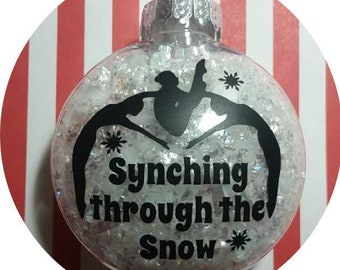 Synchronized Swimming Christmas Ornament ~ Synchro Swimmer Synching through the Snow