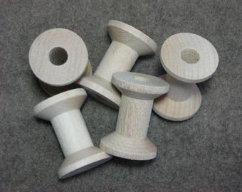 Large Wooden Spools (set of 53)