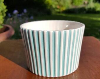 Hornsea Pottery Sugar Bowl Summit Pattern Turquoise John Clappison
