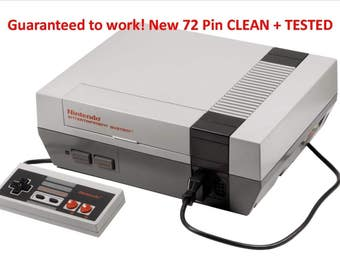 Nintendo Entertainment System Deluxe Gray Console With New 72 pin (Replacement Console Also Available)