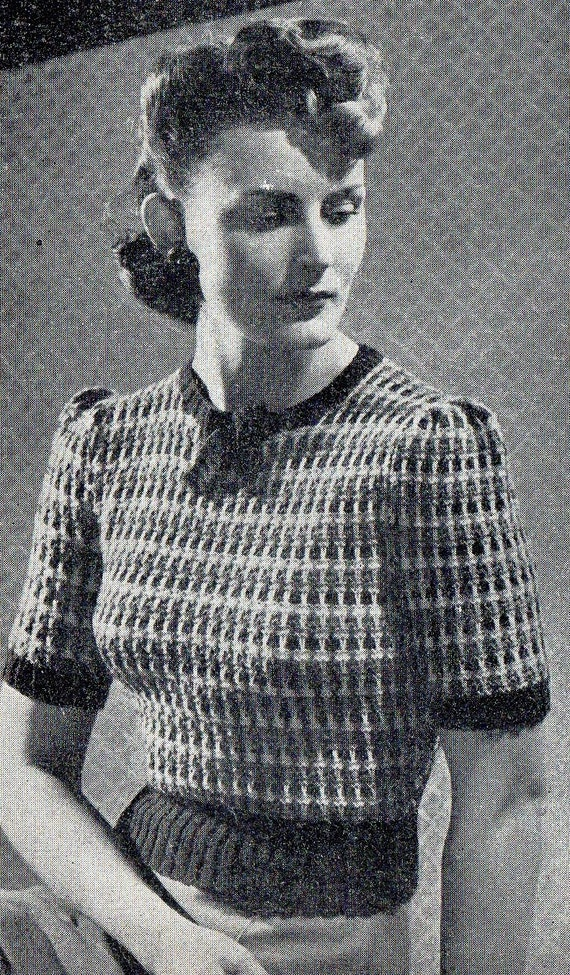 1940\'s Needlewoman and Needlecraft Knitting Pattern for a