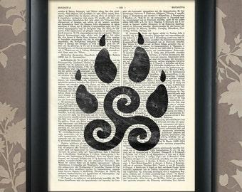 Teen Wolf Inspired Art, Teen Wolf Triskelion, Celtic Symbol, Teen Wolf Poster, Teen Wolf Print, Teen Wolf art, Triskelion Print,