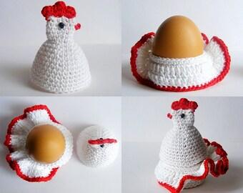 Crochet Hen egg cozy, egg holder pdf pattern