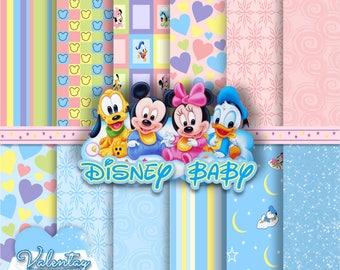 disney baby digital paper kit digital disney baby bebes disney - Bebe Disney