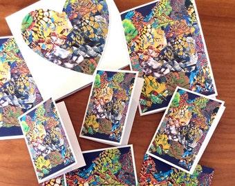 Digital mixed media cards