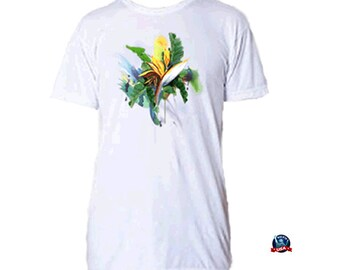 Cornucopia 100% combed cotton T-shirt derived from an original watercolor painting by Kathy Baumann