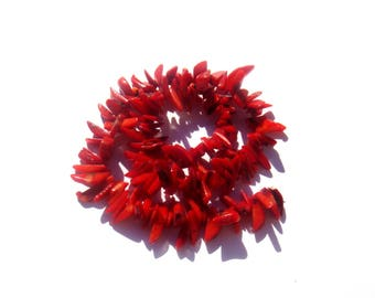 Dark coral: 10/13 mm in height about 50 chips