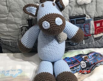 The cutie cow  Amigurumi stuffed animal  crochet.