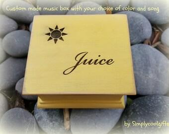 music box, wooden music box, custom made music box, sun music box, personalized music box, musical box, you are my sunshine