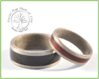 Alternative Wedding Ring Set. Couples Rings