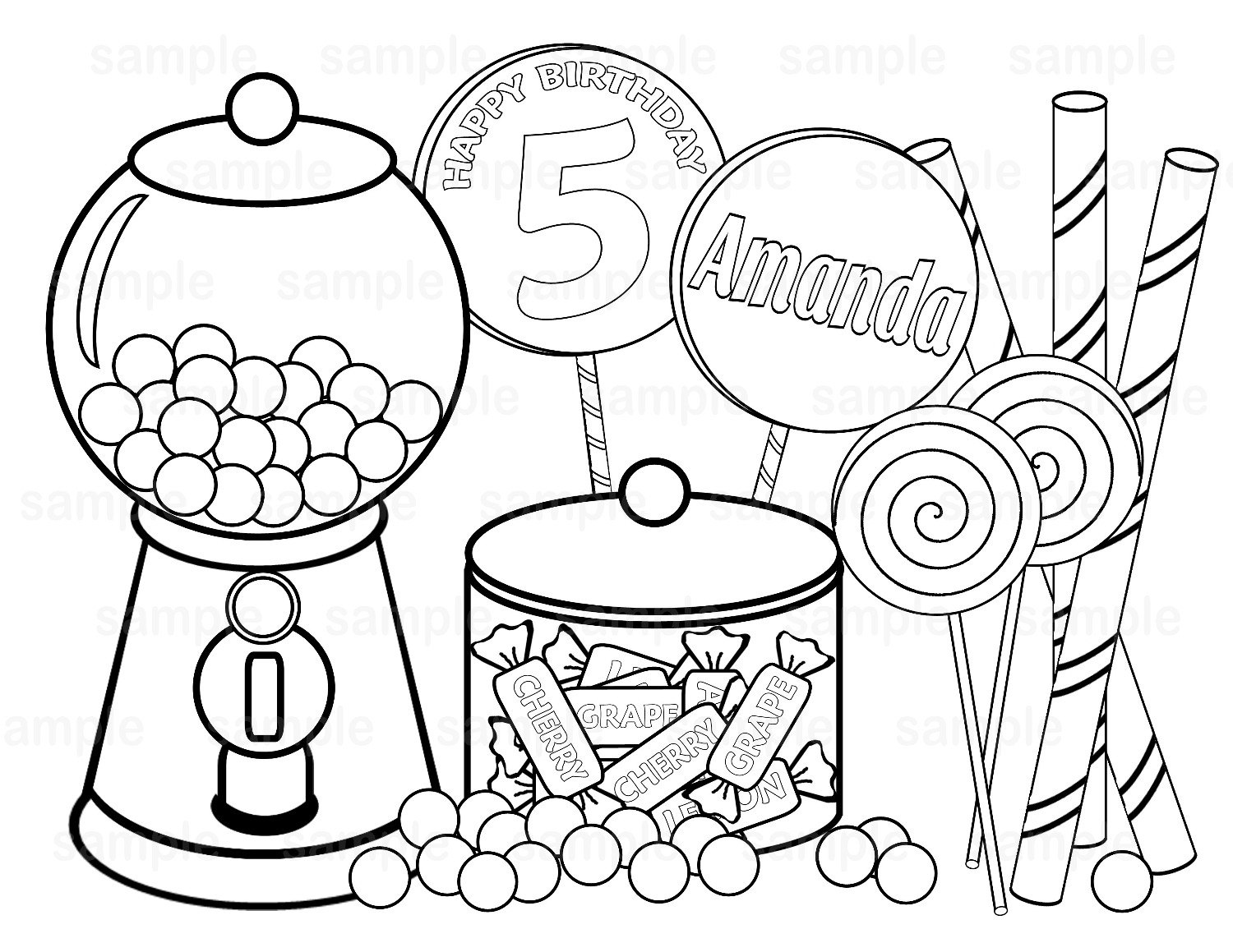 halloween food coloring pages free - photo#4