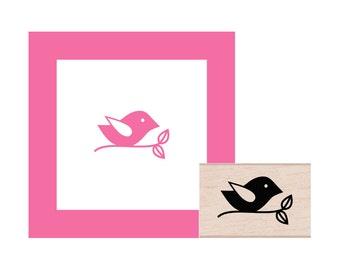 Birdie on a Branch Rubber Stamp