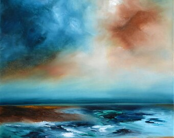 Storm On The Horizon - abstract seascape