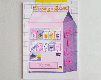 Milk Machine / Risograph Print / Poster