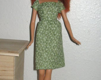 Green dress; Barbie dress; Spring dress