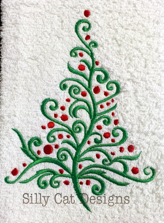 Decorative Christmas Tree Embroidery Design
