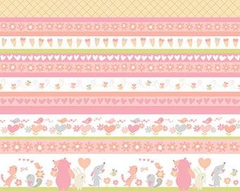 Free Spirit Fabrics - Sweetheart - Stripe Posie by David Walker