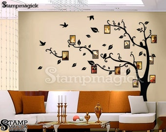 Photo Tree Vinyl Wall Decal for Home or Baby Nursery - K077