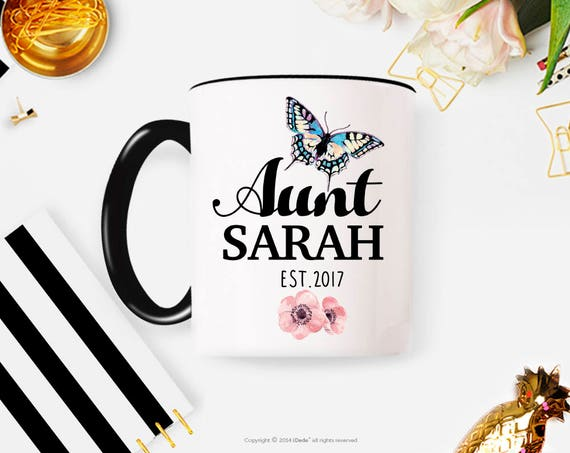 Personalized Aunt Mug, Aunt Gift, Sister Pregnancy Reveal Mug, Sister Pregnancy Announcement, New Aunt, Pregnancy Reveal, Baby Shower Gift