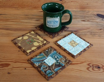 Hand Quilted Patchwork Coasters